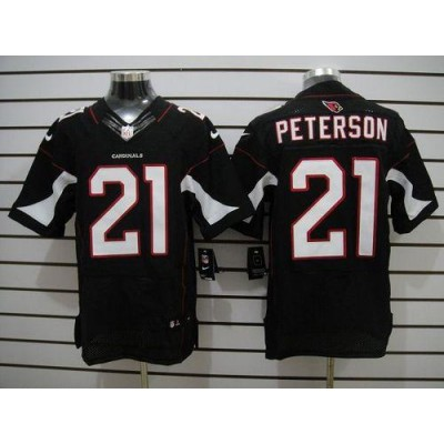 Nike Arizona Cardinals No.21 Patrick Peterson Black Elite Football Jersey