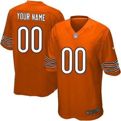 Nike Chicago Bears Customized Orange Elite Youth NFL personalized Jerseys