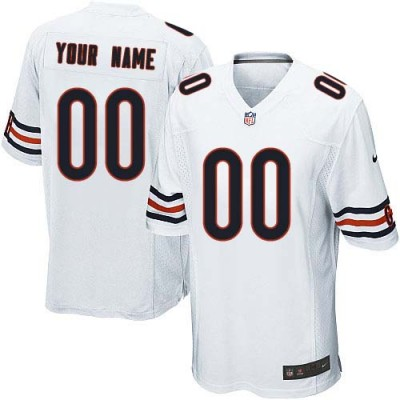 Nike Chicago Bears Customized White Elite Youth NFL personalized Jerseys
