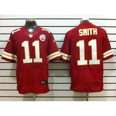 Nike Kansas City Chiefs No.11 Alex Smith Red Male Embroidered Elite Stitched Football Jersey