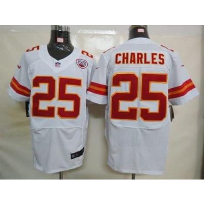 Nike Kansas City Chiefs No.25 Jamaal Charles White Elite Stitched Football Jersey