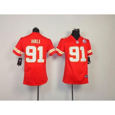 Youth Nike Kansas City Chiefs 91 Tamba Hali Red NFL Elite Jersey
