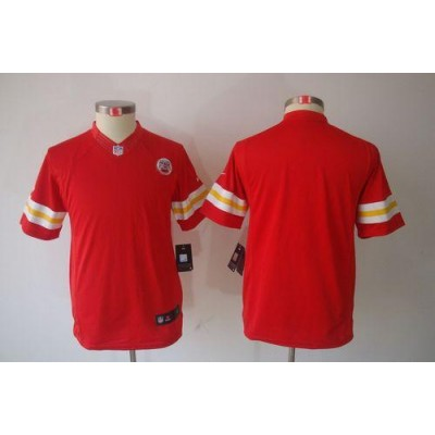 Youth Nike Kansas City Chiefs Blank Red NFL Limited Jersey