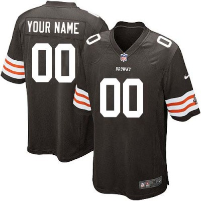 Nike Cleveland Browns Customized Brown Elite Youth NFL personalized Jerseys