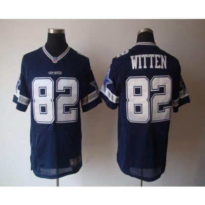 Nike Dallas Cowboys No.82 Jason Witten Navy Blue Elite NFL Jersey