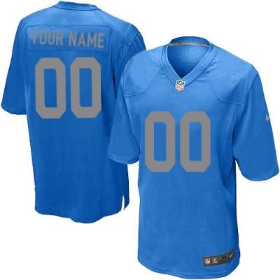 Nike Detroit Lions Customized Blue Elite Youth NFL personalized Jerseys