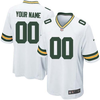 Nike Green Bay Packers Customized White Elite Youth NFL personalized Jerseys