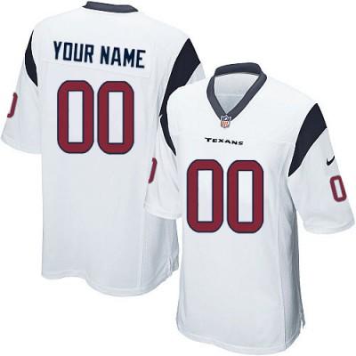 Nike Houston Texans Customized White Elite Youth NFL personalized Jerseys