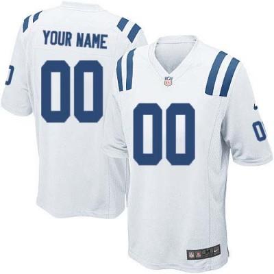 Nike Indianapolis Colts Customized White Elite Youth NFL personalized Jerseys