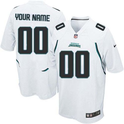 Nike Jacksonville Jaguars Customized White Elite Youth NFL personalized Jerseys