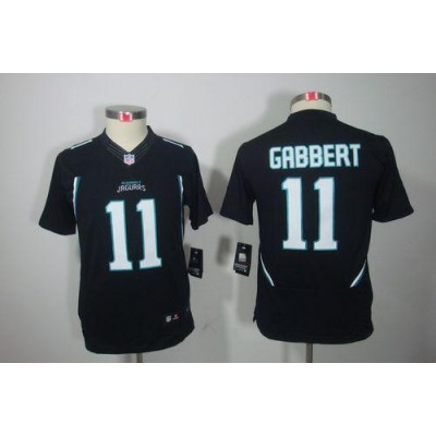 Youth Nike Jacksonville Jaguars 11 Blaine Gabbert Black NFL Limited Jersey