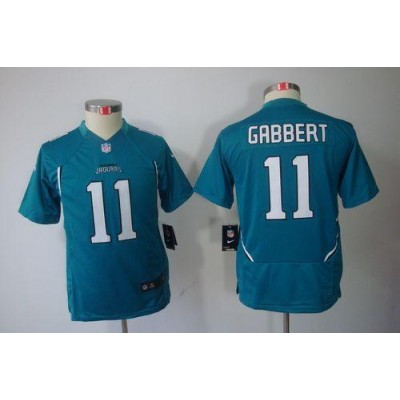 Youth Nike Jacksonville Jaguars 11 Blaine Gabbert Teal Green NFL Limited Jersey
