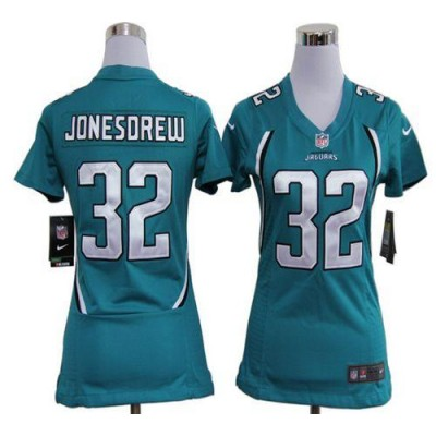 NFL Nike Jaguars 32 Maurice Jones-Drew Teal Green Women's Elite Jersey