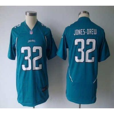 Youth Nike Jacksonville Jaguars 32 Maurice Jones-Drew Teal Green NFL Game Jersey