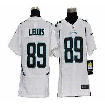 Youth Nike Jacksonville Jaguars 89 Marcedes Lewis White NFL Elite Jersey