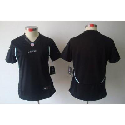 NFL Nike Jaguars Blank Black Women's Limited Jersey