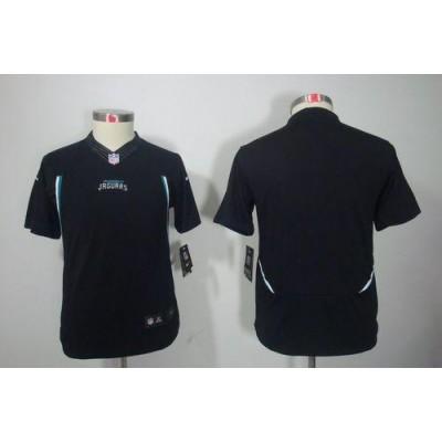 Youth Nike Jacksonville Jaguars Blank Black NFL Limited Jersey