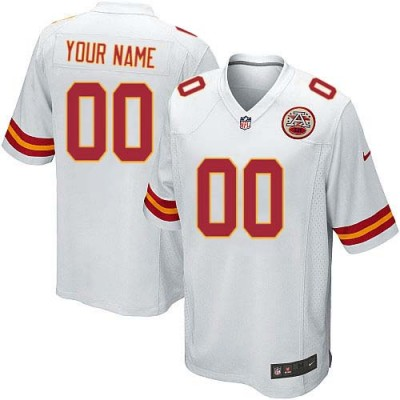 Nike Kansas City Chiefs Customized White Elite Youth NFL personalized Jerseys