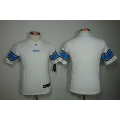 Nike Lions Blank White Youth Embroidered NFL Limited Jersey