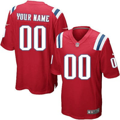 Nike New England Patriots Customized Red Elite Youth NFL personalized Jerseys