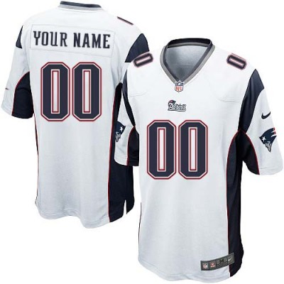 Nike New England Patriots Customized White Elite Youth NFL personalized Jerseys