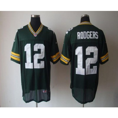 Nike Packers 12 Aaron Rodgers Green Elite NFL Jersey