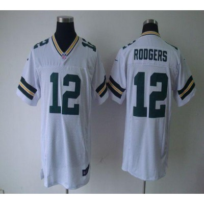 Nike Packers 12 Aaron Rodgers White Elite NFL Jersey