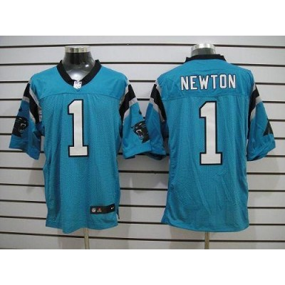 Nike Carolina Panthers 1 Cam Newton Blue Elite Football Jersey