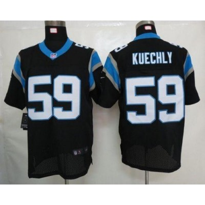 Nike Carolina Panthers 59 Luke Kuechly Black Elite Football Jersey