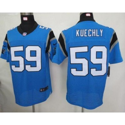 Nike Carolina Panthers 59 Luke Kuechly Blue Elite Football Jersey