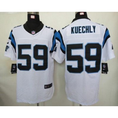 Nike Carolina Panthers 59 Luke Kuechly White Elite Football Jersey