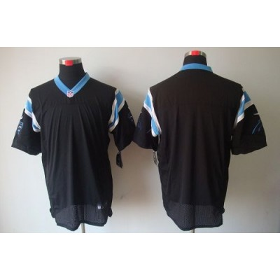 Nike Carolina Panthers Blank Black Elite Football Jersey