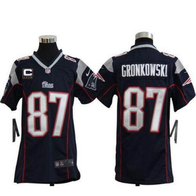 Youth Nike New England Patriots 87 Rob Gronkowski Navy Blue NFL Elite Jersey