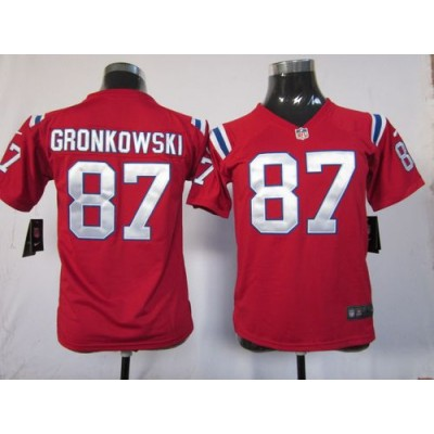 Youth Nike New England Patriots 87 Rob Gronkowski Red NFL Elite Jersey