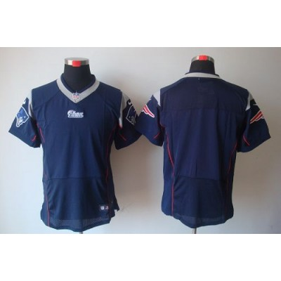 Nike New England Patriots Blank Navy Blue Elite Jersey