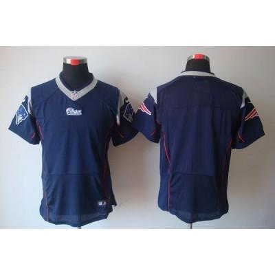 Nike New England Patriots Blank Navy Blue Elite Jersey