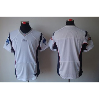 Nike New England Patriots Blank White Elite Jersey
