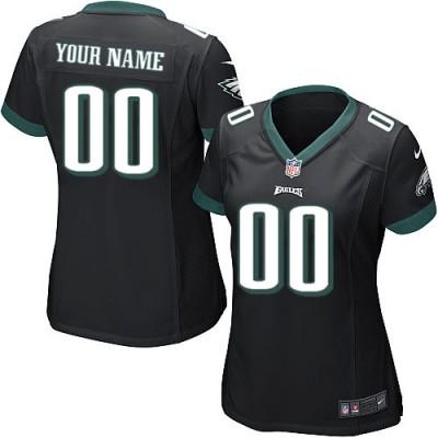 Nike Philadelphia Eagles Customized Black Elite Women's NFL personalized Jerseys