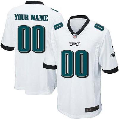 Nike Philadelphia Eagles Customized White Elite Youth NFL personalized Jerseys