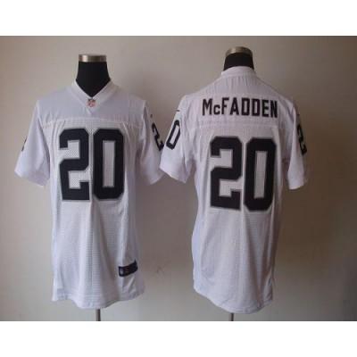 Nike Oakland Raiders No.20 Darren McFadden White Elite Jersey