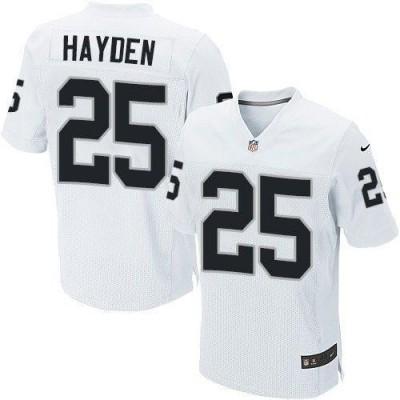 Nike Oakland Raiders No.25 D.J. Hayden White Embroidered Elite Jersey