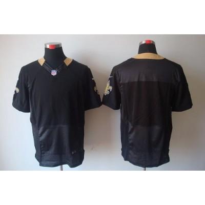 Nike New Orleans Saints Blank Black Elite Jersey