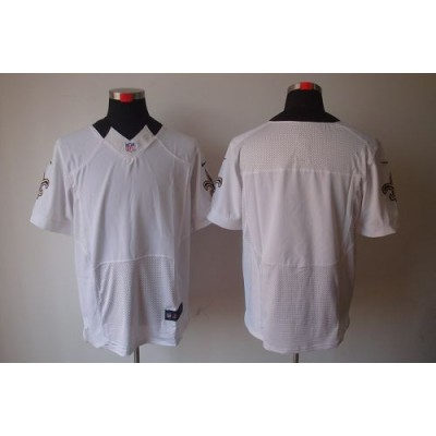Nike New Orleans Saints Blank White Elite Jersey