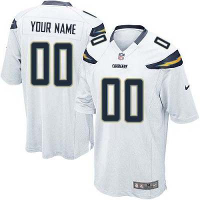Nike San Diego Chargers Customized White Elite Youth NFL personalized Jerseys