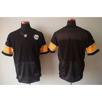 Nike Pittsburgh Steelers Blank Black Elite Jersey