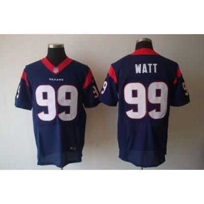 Nike Houston Texans No.99 J.J. Watt Navy Blue Elite Stitched Football Jersey