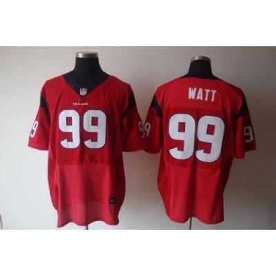 Nike Houston Texans No.99 J.J. Watt Red Elite Stitched Football Jersey