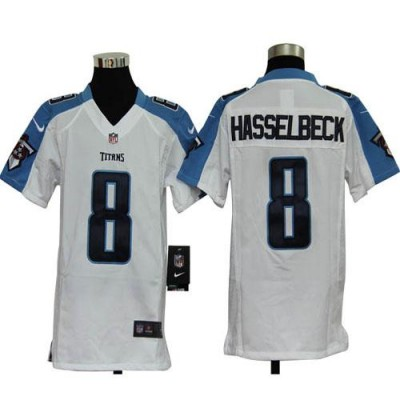 Youth Nike Tennessee Titans 8 Matt Hasselbeck White NFL Elite Jersey
