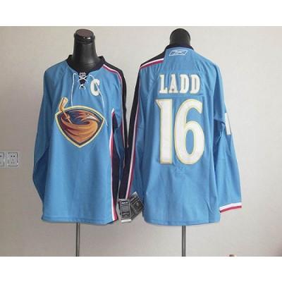 NHL Thrashers 16 Ladd Blue Men Jersey