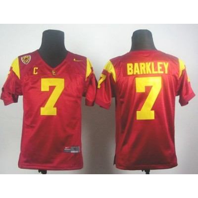 NCAA USC Trojans 7 Matt Barkley Red PAC-12 C Patch Youth Jersey